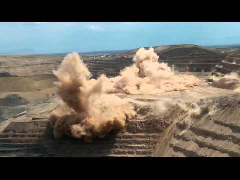 Newmont Twin Creeks Mega Pit Detonation