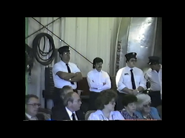 Champlain Fire Dept. Dedication  6-6-87