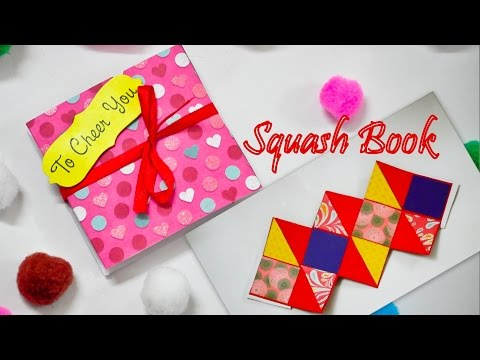 DIY Easy Squash Card (Squash Book) Tutorial