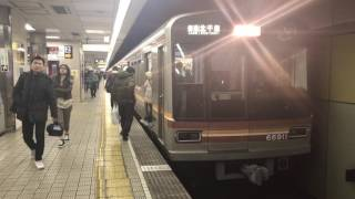 【4K】【警笛付き♪】大阪市営地下鉄堺筋線   66系 未更新車 66611F  普通 北千里行き 恵美須町駅 発車