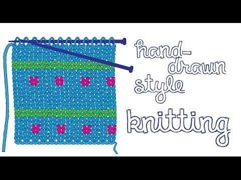 Illustrator - Hand Knitting Illustration