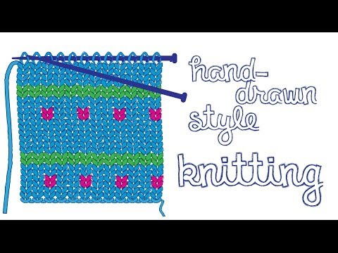 7e84c2026 Illustrator - Hand Knitting Illustration - YouTube