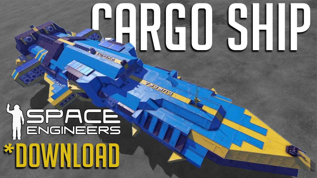 Amazing Cargo Ship Space Engineers Big Ship Download Youtube