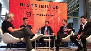 """VeriBlock CEO Justin Fisher on """"Cryptocurrency Infrastructure"""" Panel at Distributed Markets 2018"""