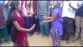 Local india woman dance