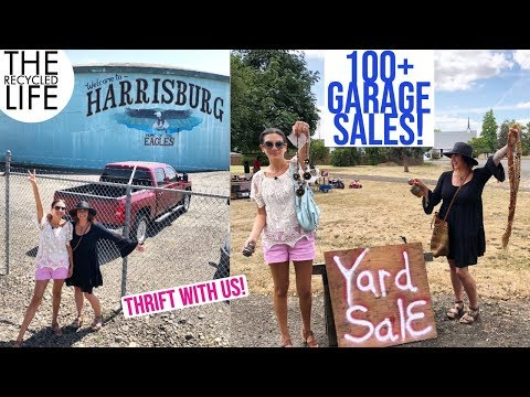 THRIFT WITH US! We Hit The CITY WIDE Garage Sale Event In Harrisburg Oregon | The Recycled Life