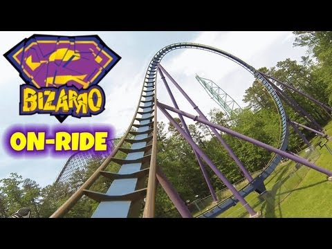 Bizarro On-ride Front Seat (HD POV) Six Flags Great Adventure