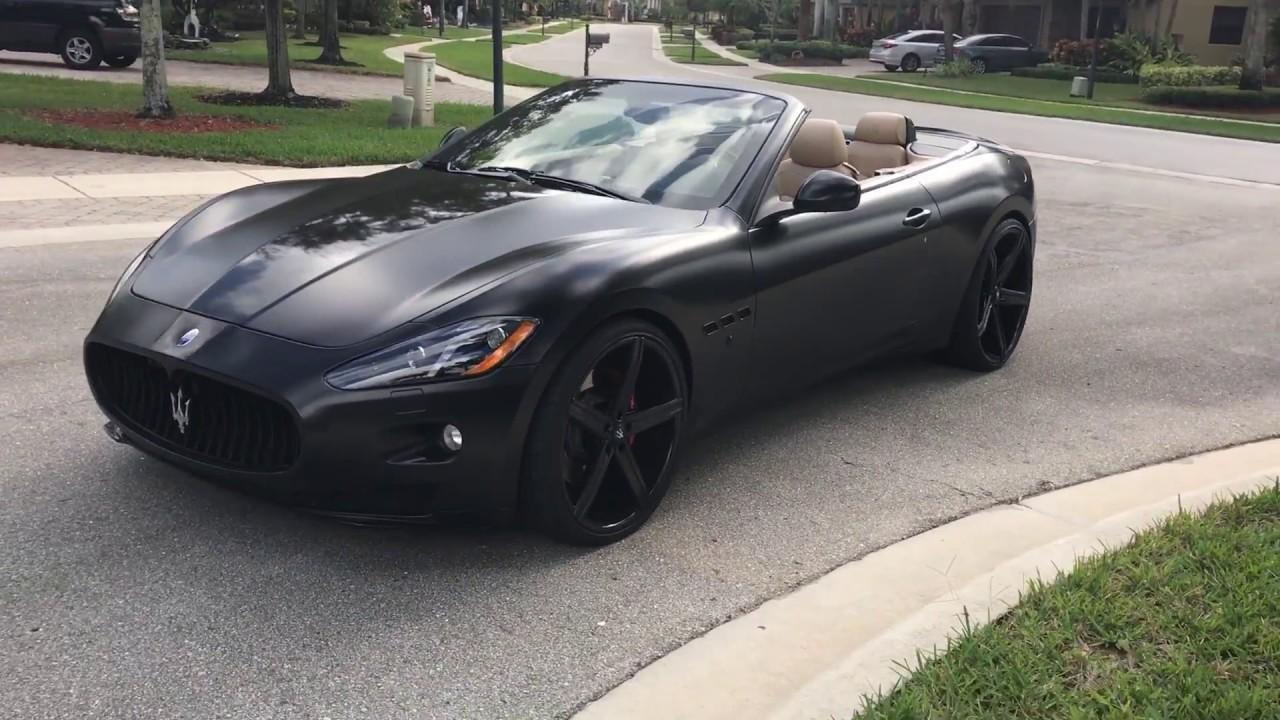 For Satin Matte Black Maserati Granturismo Wred With 24 22 Rims