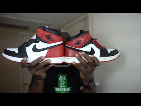 cheaper 81ba4 d7f1c 2016 Air jordan 1 Black Toe | Comparison to Old/New Love Black Toe | Review  - YouTube