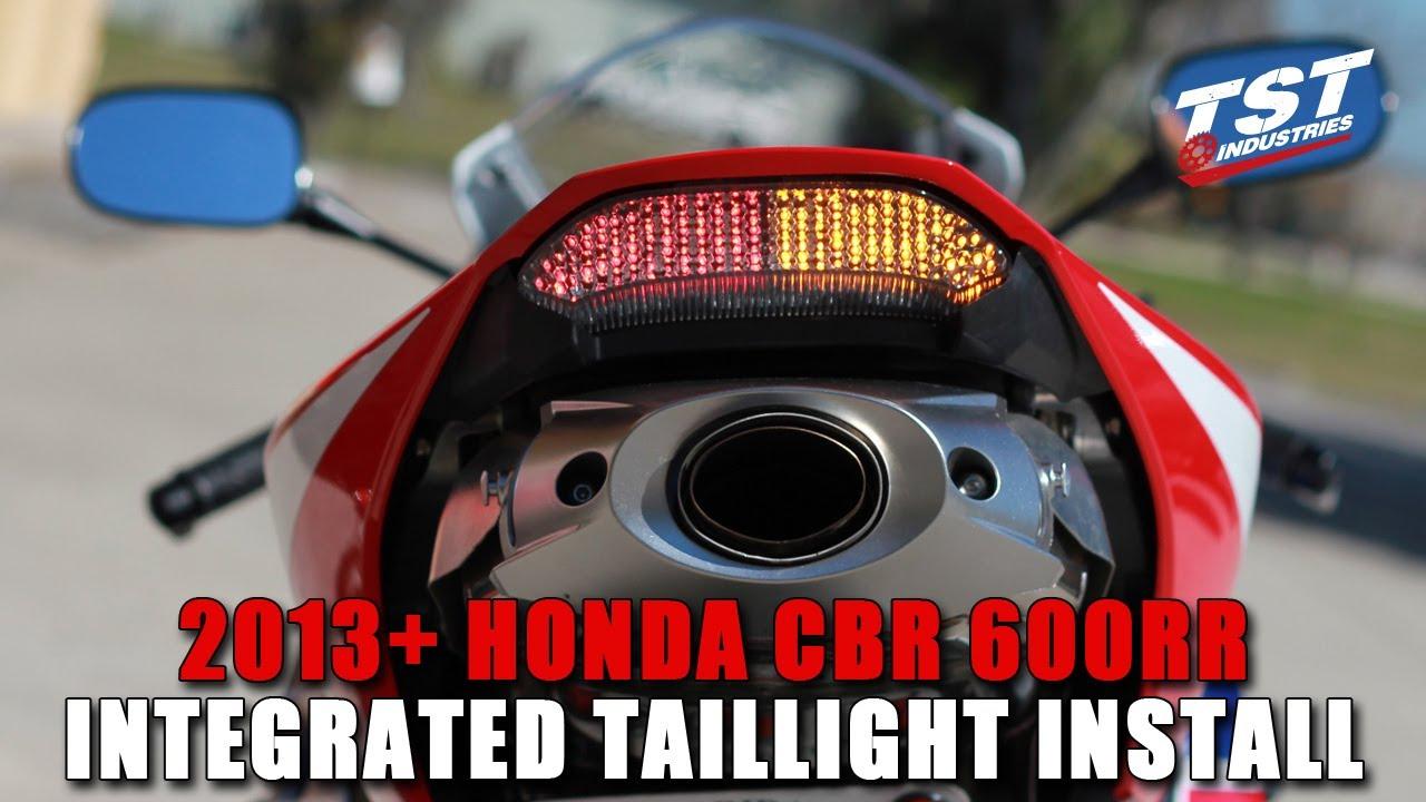 medium resolution of how to honda cbr 600rr 2013 2019 integrated taillight relay installation youtube