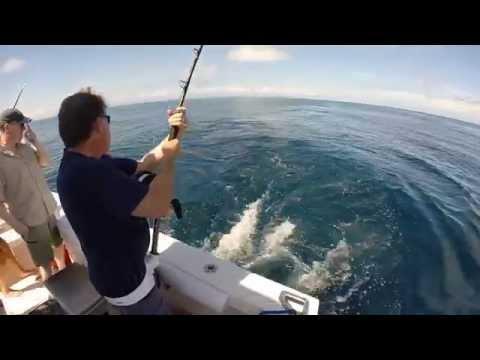 Deep sea fishing with Royal Belize - 55lbs Wahoo