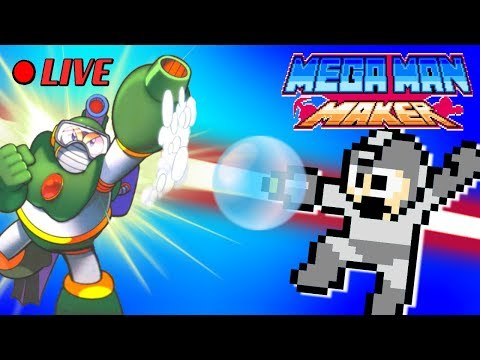 We Play Your MegaMAN Maker Levels LIVE! #37