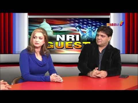 NRI Guest  Siya Nanda Miss Bharat USA 2017and Janak with Aryan Vaid || Mana Tv ||