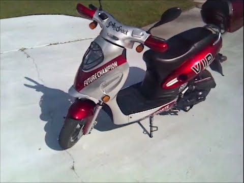 50cc Gas Scooter Review Youtube