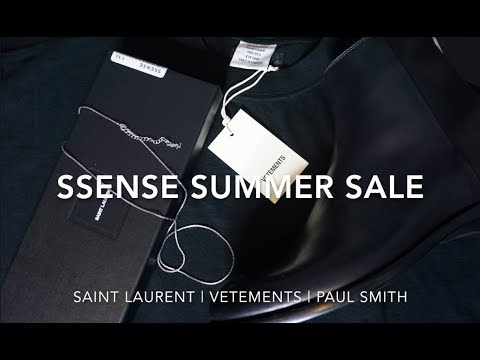 Ssense End Of Season Sale Unboxing | Saint Laurent, Vetements, Paul Smith | Fashion