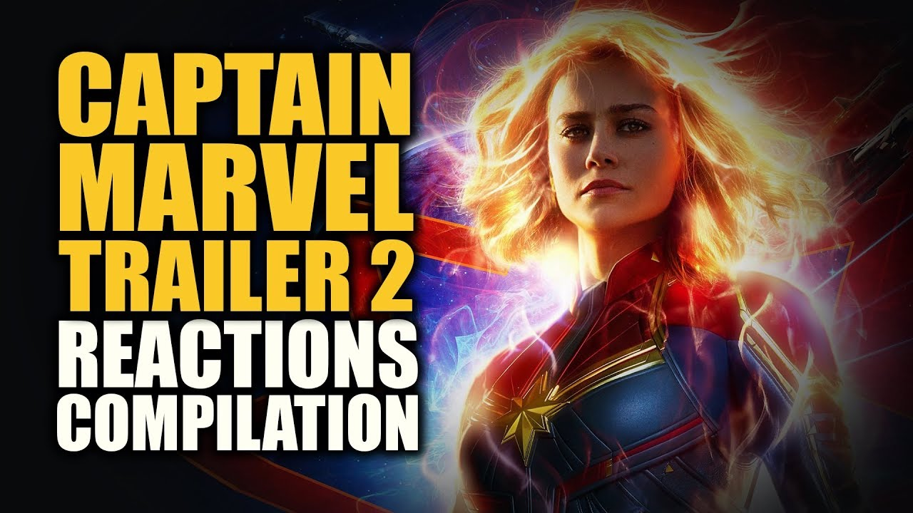 captain marvel trailer 2 reactions compilation - youtube