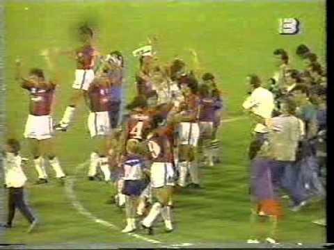 San Lorenzo vs Colo-Colo - Salida a la cancha 1992