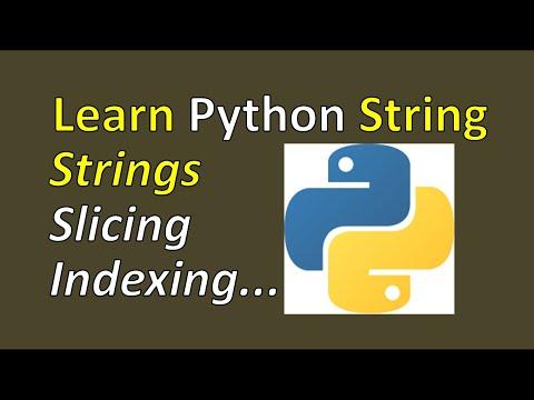 Python tutorial 2 - Handling Strings