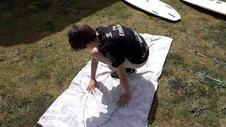 Home surf school - pop up towel