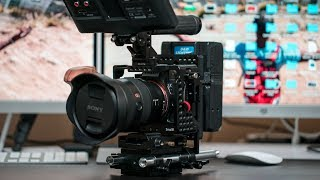 Sony A7iii Pro Setup with SmallRig Cage, Vmount battery, and monitor