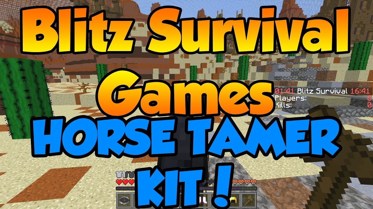 Blitz Survival Games - VIP+ Horse Tamer! - Rank Up! - Hypixel Server - Go  faster!!