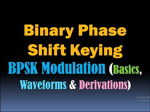 Binary Phase Shift Keying (BPSK Modulation) Phase Shift Keying (PSK Modulation) Digital Modulation