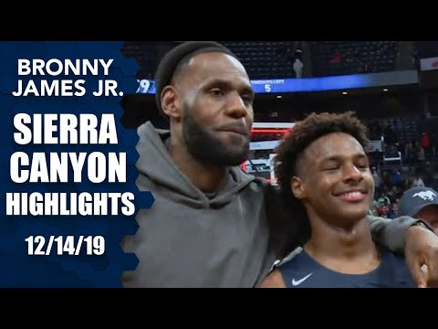 Bronny James Leads Sierra Canyon To Win In Front Of LeBron | Prep Highlights