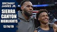Bronny James leads Sierra Canyon to win in front of LeBron   Prep Highlights
