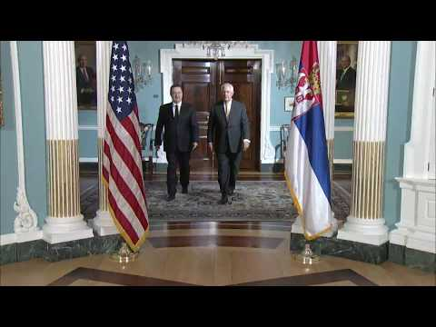 Secretary Tillerson Meets with Serbian First Deputy Prime Minister Ivica Dacic