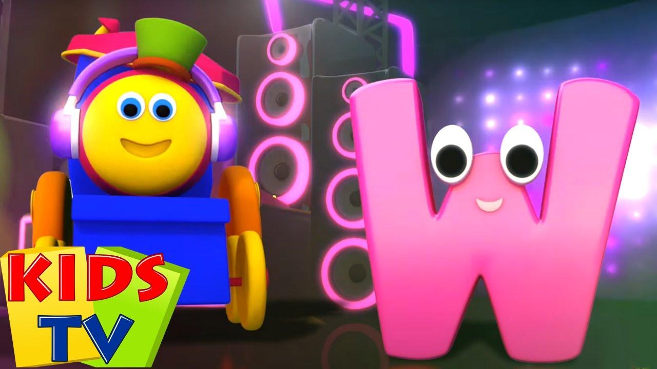 Bob si Kereta Lagu | Video edukasi | Fonik huruf W | Kartun anak | Kids Tv Indonesia | Bayi sajak