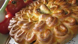 Рецепт- Мясной пирог Хризантема!
