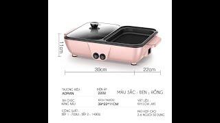 Bếp nướng lẩu 2 in 1 Mini Hàn Quốc - Bếp Điện Đa Năng