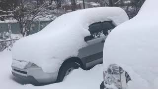 tormenta de nieve en carolina del norte