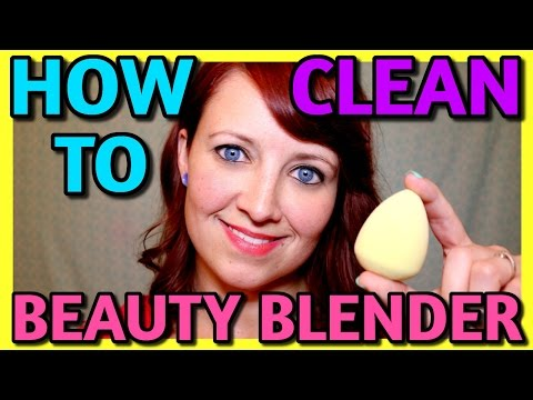 HOW TO CLEAN YOUR BEAUTY BLENDER - VERY EASY! 📍 How To With Kristin