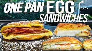 ONE PAN EGG SANDWICH/TOAST (4 EASY & EPIC RECIPES!) | SAM THE COOKING GUY 4K