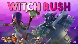 "CLASH OF CLANS - NEW TH9 WAR ATTACK STRATEGY ""WITCH RUSH"" with PEKKA's"