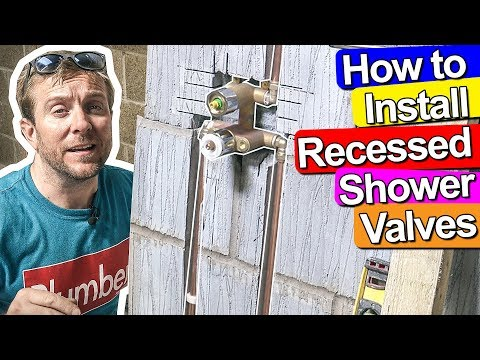 HOW TO FIT A RECESSED CONCEALED SHOWER VALVE - Plumbing Tips