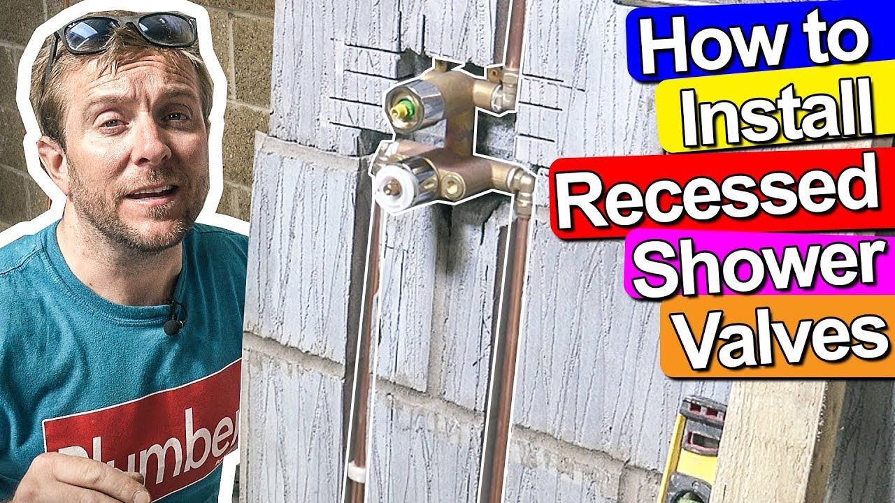 How To Fit A Recessed Concealed Shower Valve Plumbing Tips Youtube Cylinder Thermostat Wiring