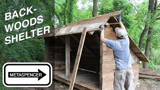 Building a Backwoods Shelter from Barn Wood