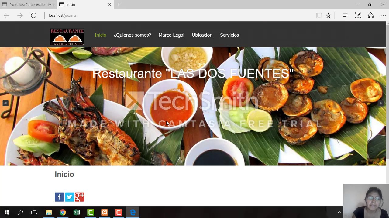 Instalar una plantilla y crear un menu en joomla - YouTube