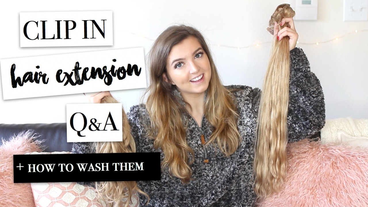 Clip In Hair Extensions Qa How I Wash My Hair Extensions Youtube