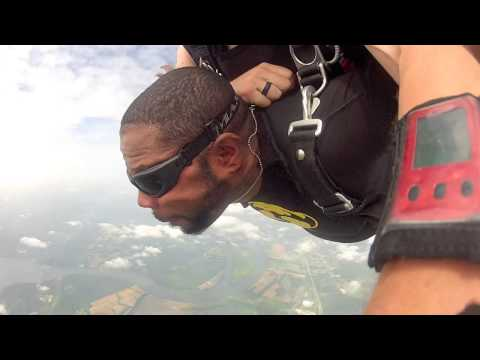 Patrick from Monroe, GA is pushed from an aircraft!