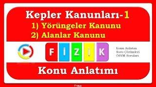 Kepler Kanunları-1 (a-Yörüngeler Kanunu b-Alanlar Kanunu)