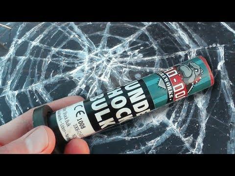 TESTING FIREWORKS UNDER ICE!