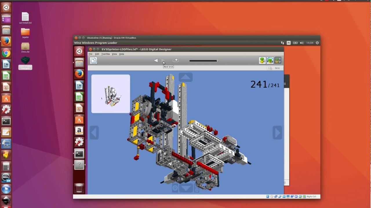 Running LEGO LDD on Ubuntu Linux with wine