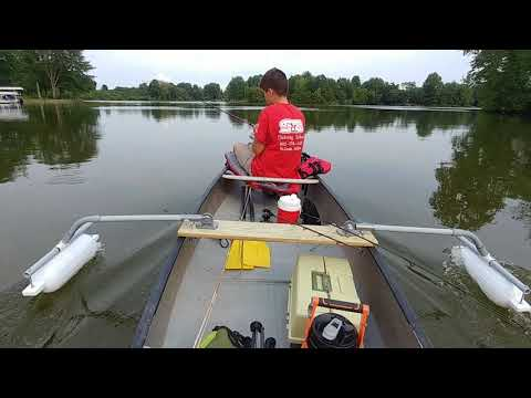PVC CANOE OUTRIGGERS IN ACTION