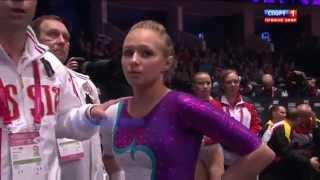 Дарья Спиридонова. Чемпионка мира 2015 Glasgow. Брусья.