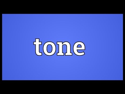 Tone Meaning