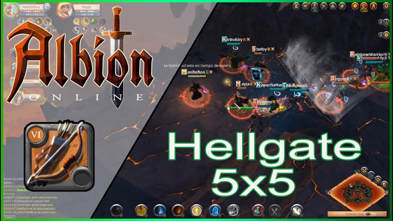 Albion Online En Español Hellgate 5 X 5 Zona Negra Bow Albion Youtube