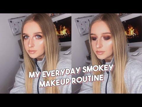 MY EVERYDAY MAKEUP ROUTINE | BROWN SMOKEY EYE